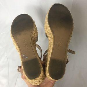 Sam Edelman Shoes - Sam Edelman Leather Espadrille Wedges 9.5